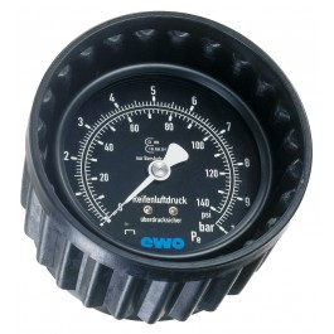 Druckmanometer mit Schutzkappe 0-4 bar