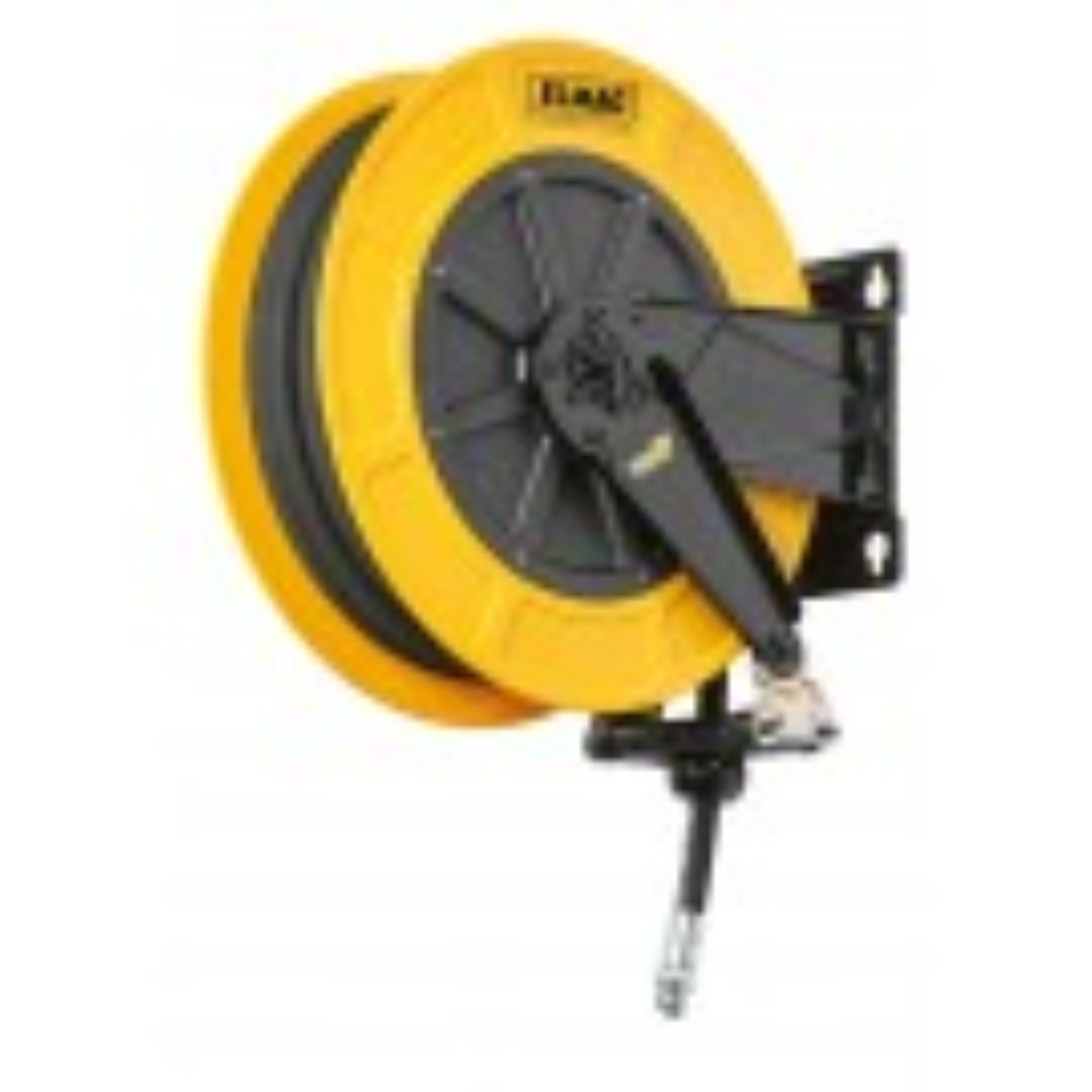 INDUSTRIE Schlauchaufroller '4430/11' für Druckluft u. Wasser 70°C, 15 m, 1/2', 20bar'ABS-Kunststofftrommel'